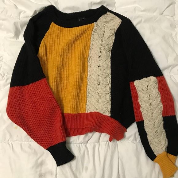 Moon Madison Sweaters Moonmadison Colorblock Knit Sweater Poshmark
